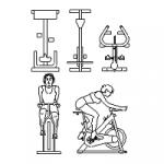 aqui tienes una seleccion completa de bicicletas estaticas dwg alzado gran catalogo